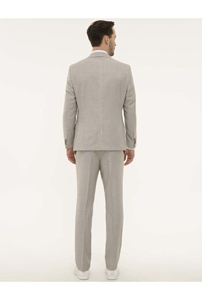 Pierre Cardin Açık Kahverengi Slim Fit Takım Elbise 50219857-VR015