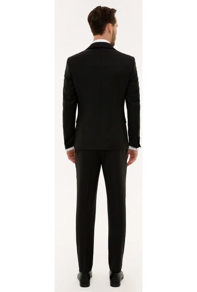 Pierre Cardin Siyah Ekstra Slim Fit Smokin Takım 50224030-VR046