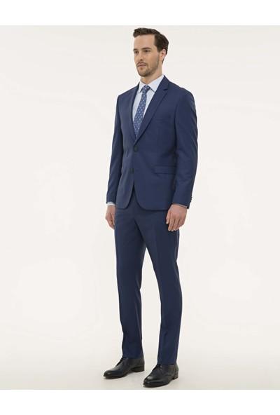 Pierre Cardin Erkek Indigo Mavi Slim Fit Takım Elbise 50229846-VR028