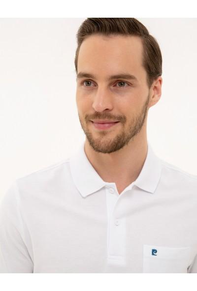 Pierre Cardin Erkek Beyaz Regular Fit T-Shirt 50225513-VR013