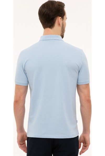 Pierre Cardin Erkek Açık Mavi Slim Fit T-Shirt 50225515-VR003
