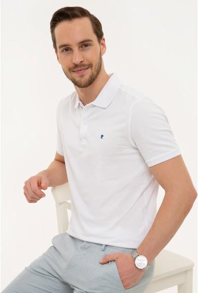 Pierre Cardin Erkek Beyaz Slim Fit T-Shirt 50225515-VR013