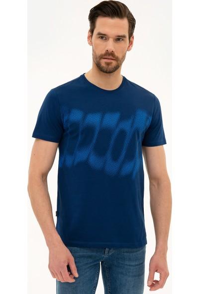Pierre Cardin Erkek Lacivert Slim Fit T-Shirt 50226354-VR033
