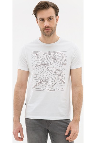 Pierre Cardin Erkek Beyaz Regular Fit T-Shirt 50226532-VR029