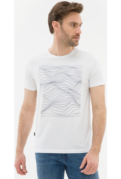 Pierre Cardin Erkek Beyaz Regular Fit T-Shirt 50226532-VR033
