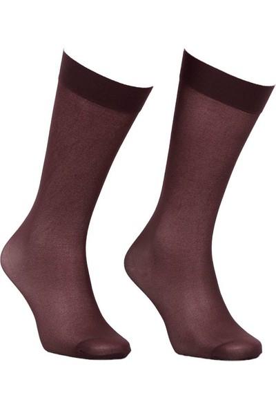 Italiana Opak Konfor Bantlı Dizaltı Çorap 1013 | Kahverengi