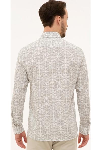 Pierre Cardin Erkek Koyu Gri Slim Fit Gömlek 50221431-VR080