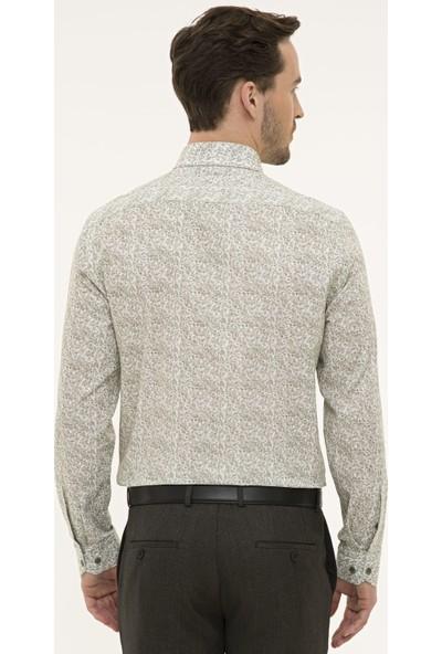Pierre Cardin Erkek Yeşil Slim Fit Gömlek 50227384-VR054