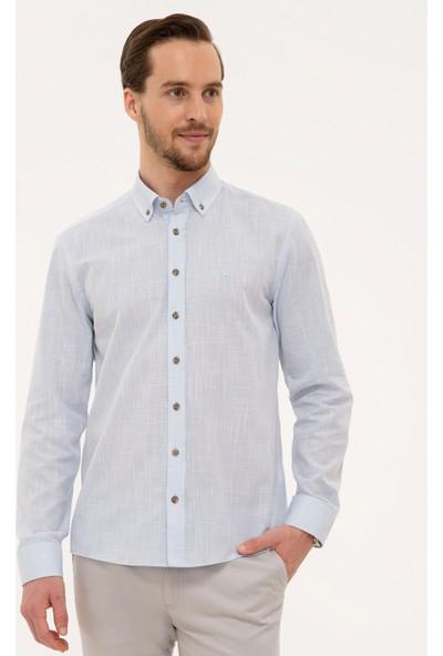 Pierre Cardin Erkek Açık Mavi Slim Fit Gömlek 50227444-VR003