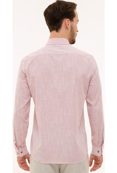 Pierre Cardin Erkek Bordo Slim Fit Gömlek 50227444-VR014