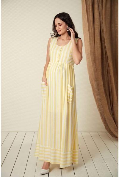Gör&Sin Hamile Cep Detaylı Hamile Elbise