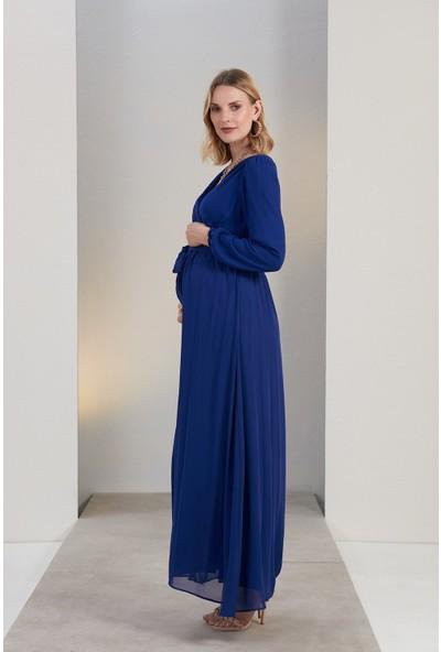 Gör&Sin Hamile Kuşak Detaylı Hamile Elbise