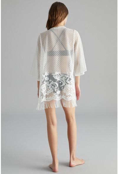 Penti Beyaz Lace Kimono