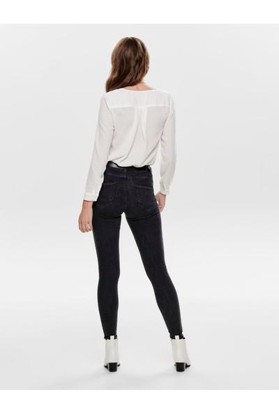 Only 15169896 Kadın Onlpower Mid Push Up Sk Jea Rea3722 Noos Jeans Stretch Denim Pantolon 20Y