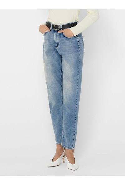Only 15193864 Kadın Onlveneda Lıfe Mom Jeans Rea7452 Jeans Stretch Denim Pantolon 20Y