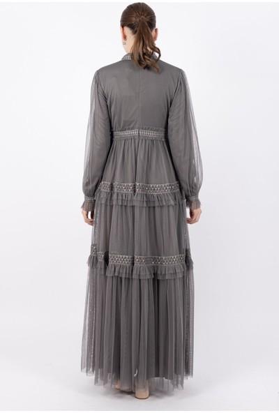Pumane 12155 Kadın Tüllü Elbise 20Y