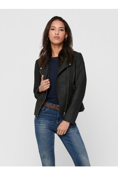 Only 15191828 Kadın Onlmelanıe Faux Leather Bıker Cc Otw Suni Deri Ceket 20Y