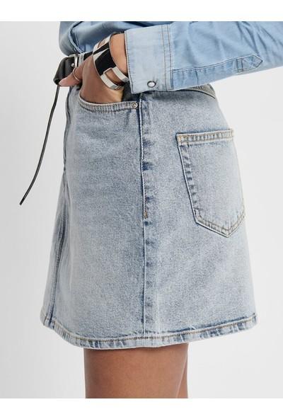 Only 15196756 Kadın Onlrose Lıfe Ashape Skirt Bb Nas2630 Denim Etek 20Y