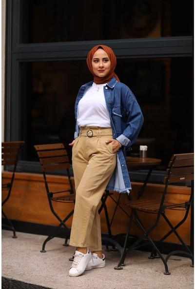 Magazin Kot Pantolon Sarı -MGZ2599