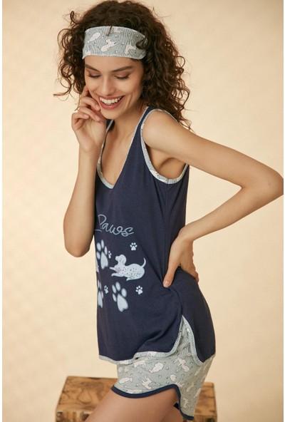 Morpi̇le Şortlu Pijama Takım