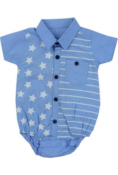 Bebemania Yazlık Erkek Bebek Body Gömlek
