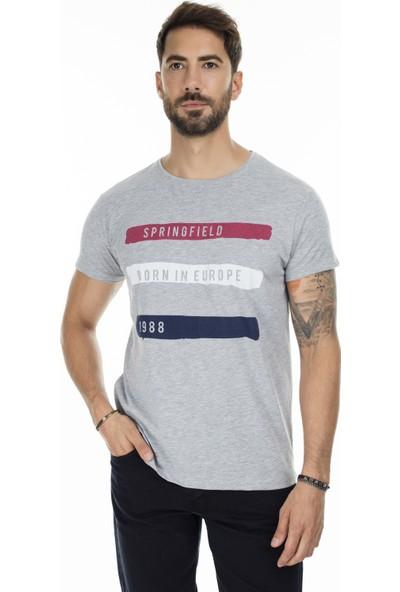 Buratti Baskılı Bisiklet Yaka Slim Fit Erkek T-Shirt 54142