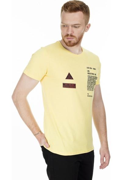 Buratti Baskılı Bisiklet Yaka Slim Fit Erkek T-Shirt Aby38111Lns