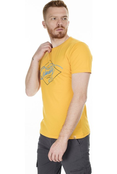 Buratti Baskılı Bisiklet Yaka Slim Fit Erkek T-Shirt Aby38121Lns