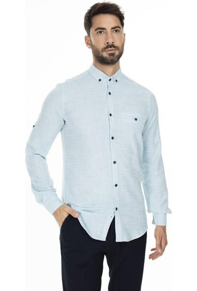 Buratti Düğmeli Yaka Gömlek Erkek Gömlek Cf20S111498