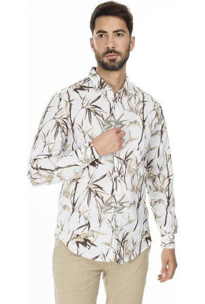 Buratti Desenli Slim Fit Gömlek Erkek Gömlek Cf20S111761
