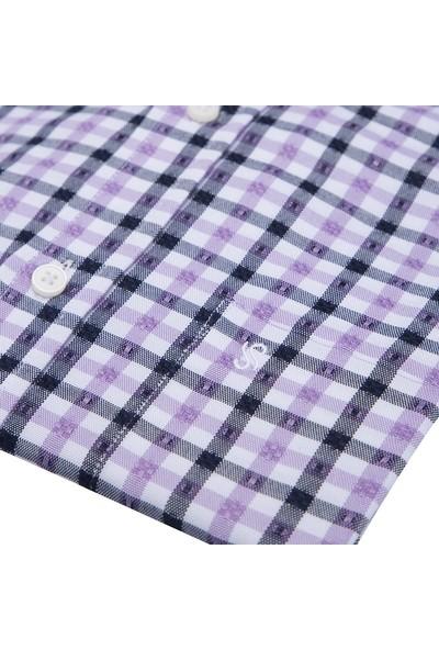Sabri Özel Kısa Kollu Gömlek Erkek Uk Gömlek 0817508