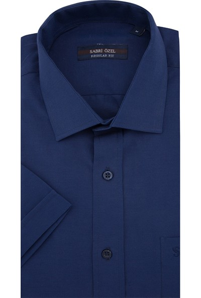 Sabri Özel Kısa Kollu Büyük Beden Seçeneğiyle Gömlek Erkek Kk Gömlek 1201