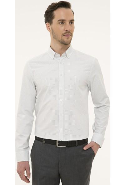 Pierre Cardin Erkek Detaylı Slim Fit Gömlek 50227491-VR046