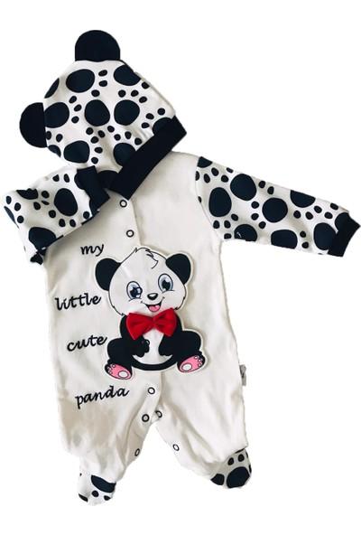 Necixs Baby Necix Şapkalı Tulum Pandalı %100 Pamuk