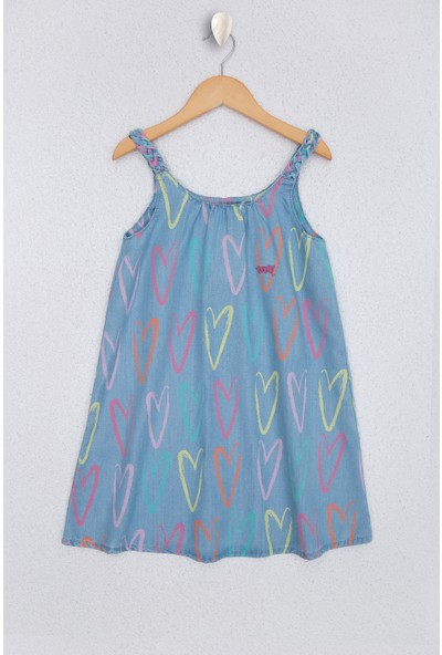 U.S. Polo Assn. Kız Çocuk Denim Elbise 50219377-DN0022