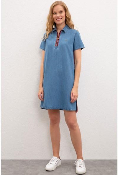 U.S. Polo Assn. Kadın Denim Elbise 50222897-DN0021