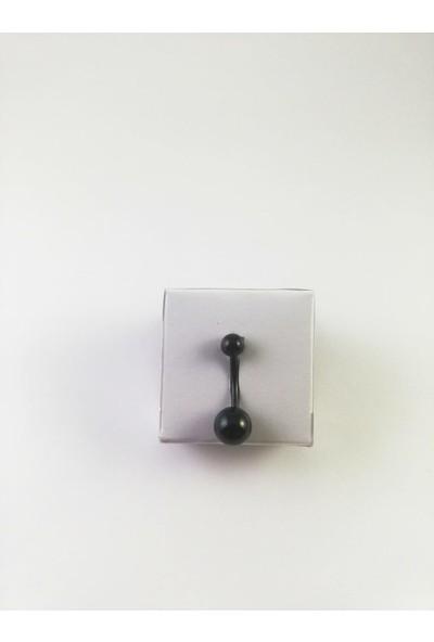 Takıparkxs G23 Titanyum Siyah Göbek Piercing