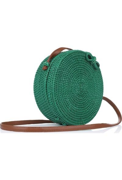 Oblavion Kadın Yeşil Hasır Çanta 1021