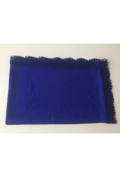 Tuğ Şal Dantelli Namaz Mevlüt Örtüsü Polyester Mavi