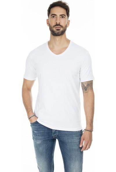 Buratti 2 Pack Basic V Yaka Slim Fit T-Shirt Erkek T-Shirt 5722512V2