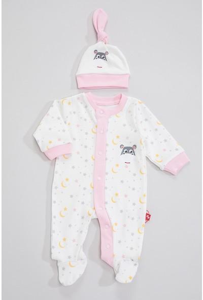 Fisher Price Kız Bebek Şapkalı Tulum Fp-084