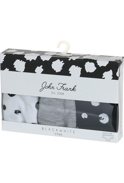 John Frank Black & White Üçlü Kadın Külot