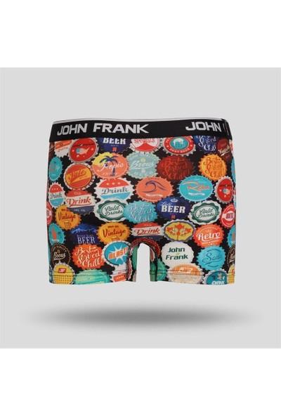 John Frank Dijital Baskılı Erkek Boxer