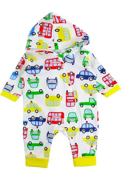 Albimini Arabalı Şapkalı Erkek Bebek Tulum