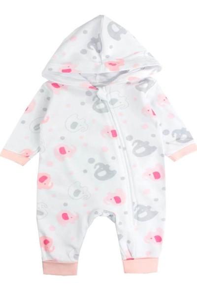Albimini Filli Şapkalı Kız Bebek Tulum