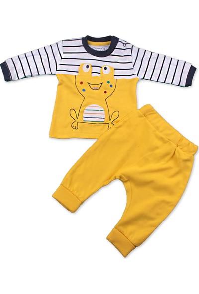 Albimini Kurbağalı Erkek Bebek Pijama Takım