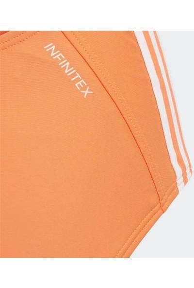 Adidas Turuncu Kız Çocuk Mayosu DY5925 Fit Suit 3s Y