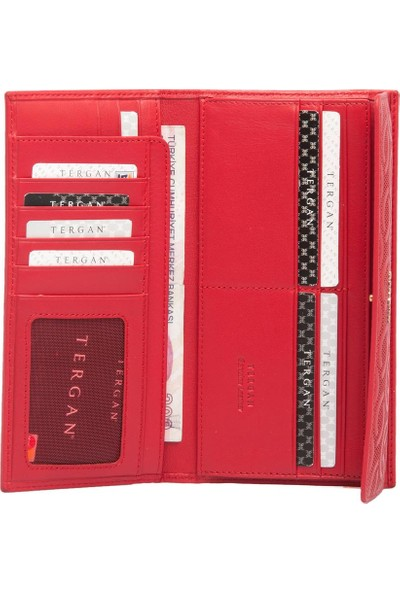 Tergan Kırmızı Deri Kadın Cüzdanı 05793D39