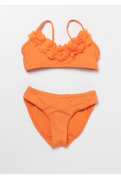 Katia&Bony Modern Marine Kız Çocuk Bikini - Turuncu