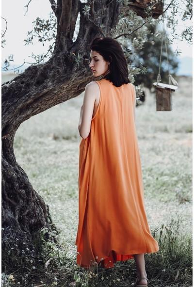 Blanca Pamplona Turuncu Elbise